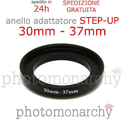 Anello STEP-UP adattatore da 30mm a 37mm filtro - STEP UP adapter ring 30 37 mm