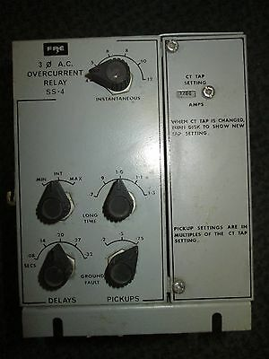 FPE Overcurrent Relay SS-4 3Ph 1200A Used