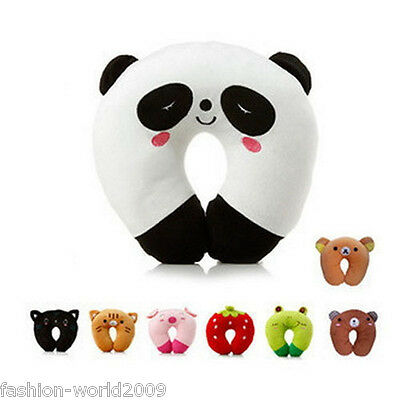 Cute Animal U Style Baby Kids Travel Car Seat Neck Rest Soft Toy Cotton Pillow
