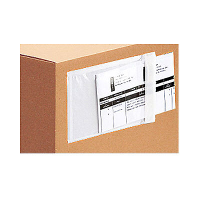 "5000 Clear Packing List Invoice Envelopes 6.5x10"" Self Adhesive SUPER STICKY"