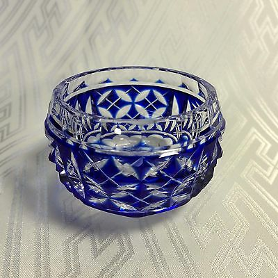 S2025 SATSUMA KIRIKO cut glass SAKAZUKI Japanese SAKE CUP Luxury than Edo Kiriko