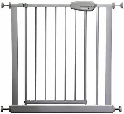Adjustable safety Gate 73 - 143 cm MEGANE silver/grey stair baby kids door gate