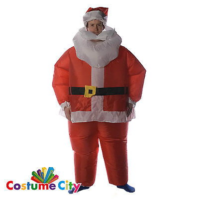Adults Inflatable Father Christmas Santa Claus Unisex Fancy Dress Suit Costume