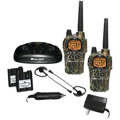 Talkie Walkies 56Km Midland Gxt1050 5W+Chargeur+Transformateur 220V Micro Casque