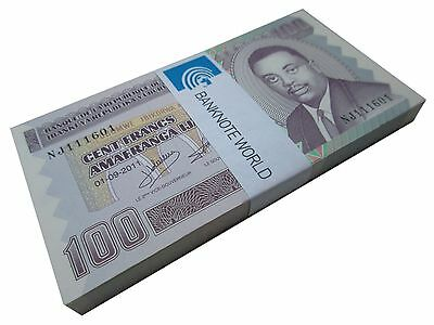 Burundi 100 Francs X 100 Pieces (PCS), 2011, P-44b, UNC, Bundle, Pack