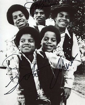 AUTOGRAPHE SUR PHOTO 20 x 25 de The JACKSONS (signed in person)