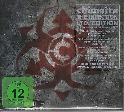 CHIMAIRA The Infection LTD ED DIGIPAK CD + DVD w/ Bonus Track LAMB OF GOD