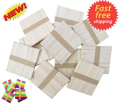 Wooden Lollipop Sticks lolly Natural Craft Crafts Lollies Ice Pops 100 to 10000