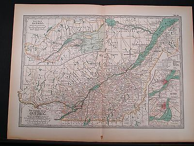 1897 Double Page Map - Quebec -  Century Atlas