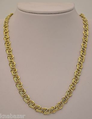 14k Yellow Gold Braided Curb Chain and Bracelet Set