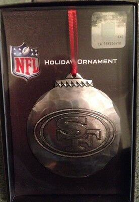 Wendell August Forge San Francisco 49ers Christmas Ornament