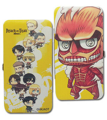 Attack on Titan Chibi Group Checkbook Wallet Anime Licensed NEW