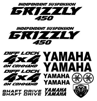 Sticker Decal Kit for Yamaha Grizzly 450 Fender Tank Emblem Graphic
