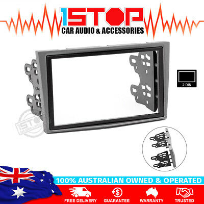 GREY DOUBLE-DIN DASH FACIA FASCIA KIT for HOLDEN ASTRA AH SERIES 2004-2009