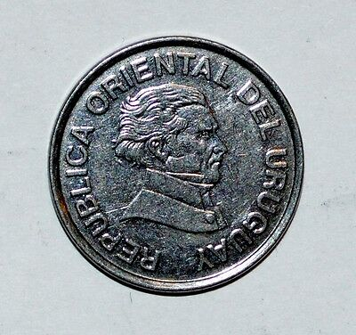 URUGUAY 50 centesimos coin 1998 world foreign BRILLIANT UNCIRCULATED  Z