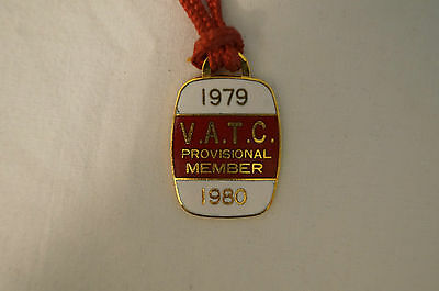 VATC - Victorian Amateur Turf Club - Collectable - 1979 - Prov. Members Badge