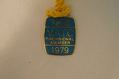 VATC - Victorian Amateur Turf Club - Collectable - 1978 - Prov. Members Badge