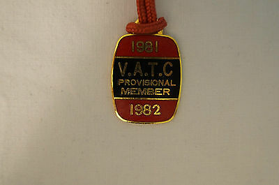 VATC - Victorian Amateur Turf Club - Collectable - 1981 - Prov. Members Badge