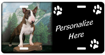 Bull Terrier  personalized automobile license plate