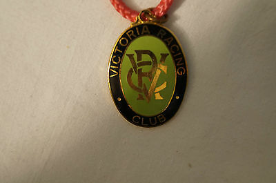 VRC - Victoria Racing Club - Collectable - 1974 - Members Badge with Cord.