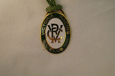 VRC - Victoria Racing Club - Collectable - 1985 - Members Badge with Cord.
