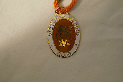 VRC - Victoria Racing Club - Collectable - 1976 - Members Badge with Cord.