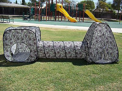 Kids Camouflage Play Tent Set With Tunnel ,Child Play Ground, Room,