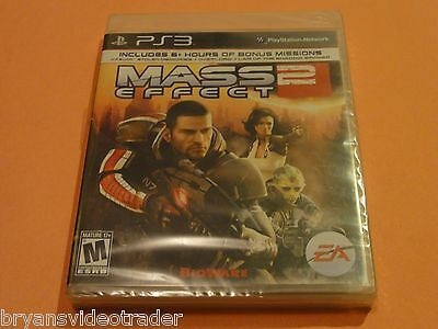 Mass Effect 2 Playstation 3 Sony PS3 New Sealed Complete Black Label Game