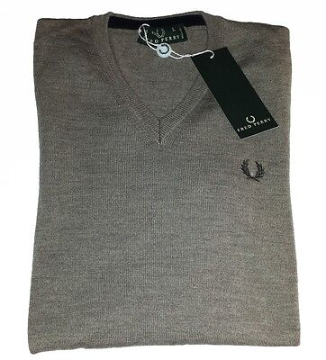 Fred Perry Scollo Merinos Wool Sweaters Men (30302230) Authentic Size XXL New