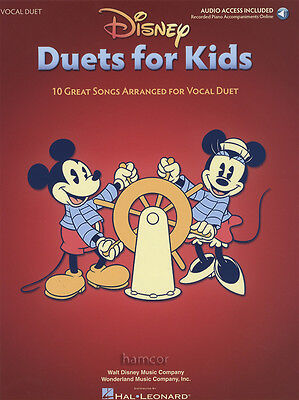 Disney Duets for Kids Vocal Duet Music Book with Online Audio Access