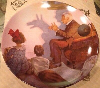 1987 Knowles Bradford Exchange - Norman Rockwell Plate- The Shadow Artist #10