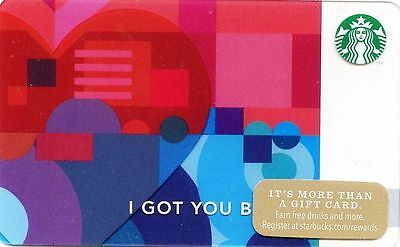 "Starbucks 2014 ""I Got You Babe"" Gift Card Brand New"