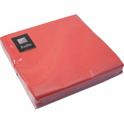 20 Red Napkins 33 x 33cm 3ply Paper Serviettes Party Table Wedding Xmas Dinner