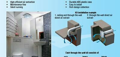 """6"""" Fan 120V Through the wall ventilation/exhaust Fan with Auto shutters 158 CFMs"""