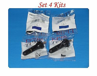 4 Kits of TPMS 20008 Tire Pressure Monitoring System Snap In Tire Valve Stems