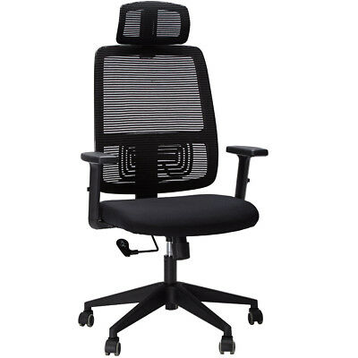 High-Back Executive Office Chair Adjustable Height Computer Mesh Seat 360°Swivel