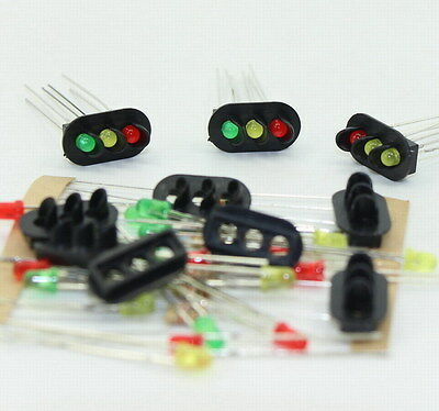JTD18 10 sets Target Faces With LEDs for Railway signal HO OO TT Scale 3 Aspects