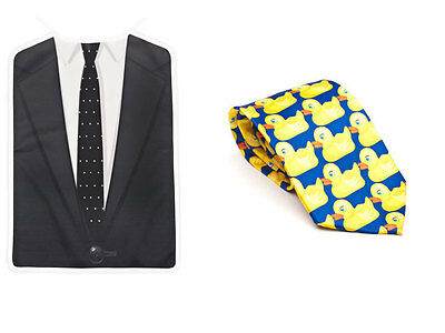 Barney's Awesomeness Bundle (Ducky Tie and Brobib), as seen on HIMYM