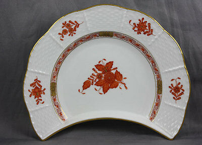 Herend Chinese Bouquet Rust Crescent Salad 530 Sold Individually