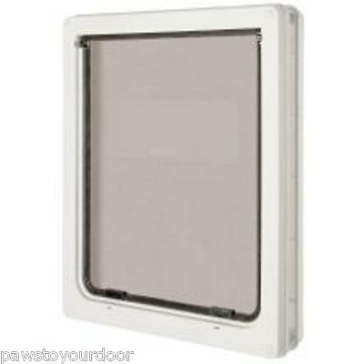 Dog mate large dog door 2 way locking white catflap pet 216W cat flap labrador