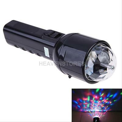 3W Crystal Colorful LED RGB Magic Light Bulb 2 in 1 Flashlight Dual Use DC 5V