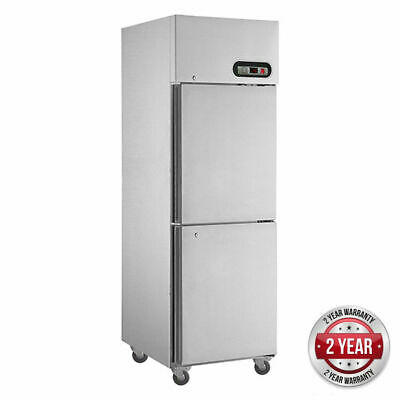 Freezer, 2 1/2 Stainless Steel Door 580L, 738x818x1980mm Commercial Upright