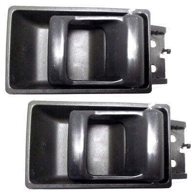 Set of Inside Gray Door Handles for 86-97 Nissan Pickup Truck