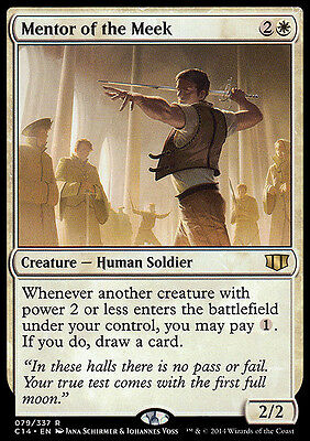 MENTOR OF THE MEEK NM mtg Commander 2014 White - Human Soldier Rare