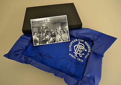 Rangers FC Signed x12 Cup Winners 1972 Gift Boxed Shirt Autograph Jersey + COA