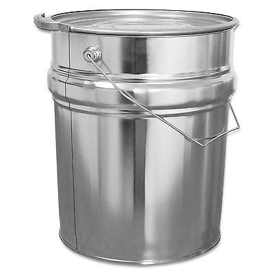 Metal bucket 10 Lwith handle, and lid, ring of tightening (23011)