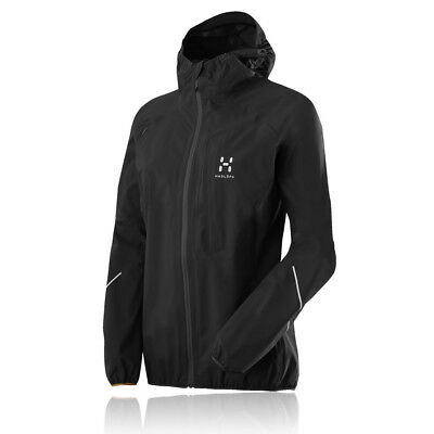 Haglofs Womens L.I.M Proof Q Black Waterproof Full Zip Hooded Running Jacket