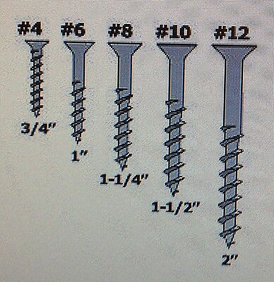 One Pack Of 20 Countersunk Cross B.Z.P Plated Woodscrews. No4,No6,No8,No10,No12.