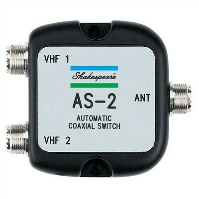 Shakespeare As-2 Automatic Coaxial Switch 1 Ant 2 Radios
