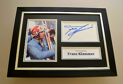 Franz Klammer Signed A4 Photo Framed Display Alpine Skiing Autograph + COA